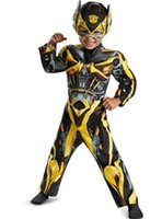 Teenage bee movie costumes - Transformers Age Of Extinction Boys costume Muscle cosplay Bumble Bee Costume