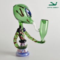 aliens pictures - 2016 Alien glass pipe for smoking fancy alien smoking pipe new fashion hot sale real picture smoking pipes