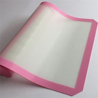 Wholesale 3Sizes Non Stick Silicone Mats Baking Best Glass Fiber Baking Sheet Rolling Dough Pastry Cakes Bakeware Liner Pad Cooking Tools