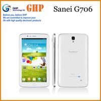 Wholesale NEW Quad Core Tablet PC Sanei G706 inch Dual SIM G Card Slot Phablet Android GB RAM GB GPS Camera MP Multi Langauge