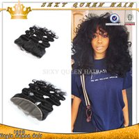 """Cheap Virgin Peruvian Body Wave Lace Frontal 13x4"""" Bleached Knots With Baby Hair Can Be Dyed Frontal Ear to Ear In Stock"""