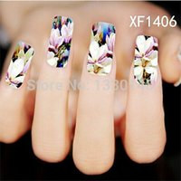 apple tree decal - D Watercolour simulation flowers Nail Sticker flowering crabapple Decal cherry apple tree Flor Printing XF1406