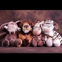 plush elephant - 25cm Germany NICI jungle brother tiger orangutans series lion tiger deer elephant zebra plush dolls Cute plush toy doll