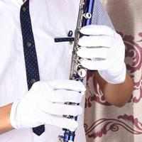 Precio de Marching band-Guantes de rendimiento Calidad de instrumentos musicales blancos de alta para Bandas Saxofón Trompeta Flauta Clarinete Marching
