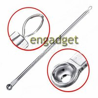Wholesale Silver Blackhead Comedone Remover Acne Blemish Pimple Extractor skin care tools