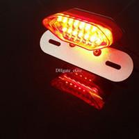 Wholesale Universal Motorcycle LED Brake Tail Light Lamp Turn Signal Indicator Light Lamp License Plate Light Free DHL