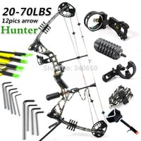 Wholesale 2015 New compound bow High Quality bow and arrow compound bow hunting archery bow set camo and carbon bow arrow