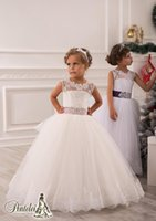 Cheap Girl Lace Princess Dresses Best Beads Tulle Girl Party Dresses