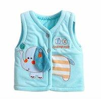 Wholesale Winter sleeveless baby girl outerwear Vest warm children s fleece vest new born infant boys vest waistcoat Clothing for babies