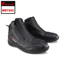 motocross boot - 2015 Newest Waterproof Leather Motorcycle Racing Boots Professional Motocross Ridding Boot Scoyco MTB002