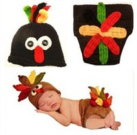 baby diapers turkey - Newborn boy and girl photography props Turkey hat and diaper cover set costume baby hat outfit thanksgiving day gift baby turkey costume