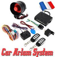 NUEVO Sistema universal de la seguridad de la protección del sistema del vehículo de la alarma del coche del HA-100A 1-Way Sirena de la entrada sin llave + 2 ladrón teledirigido