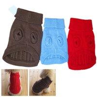 pet dog clothing - New Cute Pet Dog Warm Jumper Sweater Clothes Puppy Cat Knitwear Coat Apparel N0005 W0