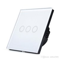 Wholesale High Quality Gang Touch Wall Light Switch Sets Touch Panel Crystal Glass Wall Touch Swith V EU Standard