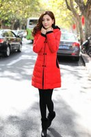 Wholesale winter jacket coat women overcoat casual parka zipper hooded ashion candy color ladies feather fabric