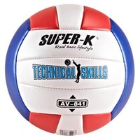 Wholesale Mesuca Sport Super K PVC Machine Sewn Volleyball AV Multi Colors Soft Surface Volleyball for Adult