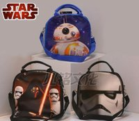 Wholesale 2016 New star wars Insulation Lunch Bag cartoon stormtrooper BB Lunch Bag household star wars Hangbags with water bottle C353