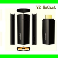 Wholesale 2015 NEWEST V2 EzCast TV Stick HDMI P Miracast DLNA Airplay WiFi Display Receiver Dongle Support Windows iOS Andriod GOOGLE MINI PC P