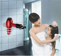 Cheap Bathroom Shelf Hair Dryer Holder Wall Hang Aluminum Shelf Innovative Items Bathroom Accessories Set Novelty Households Rack TY1492