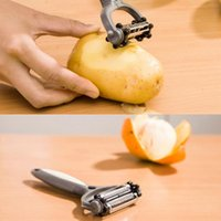 Wholesale 3in1 gray peeler degree rotary blades grater peeler chip multi functional kitchen accessories for fruit and vegetables