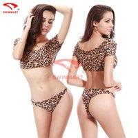 Cheap 2015 FREE shipping Print Fabric Swimwear Leopard Brazilian bikini triangl swimwear new fashion sexy Bikinis lady bikini Hot pink bikini