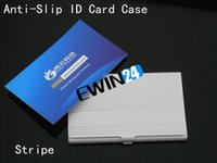 aluminum name card holder - Fringe Business Card Holders Anti Slip Stripe Credit Bank ID Card Case Holder Business Name Case Aluminum