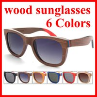 european fashion for men - Hot Sale new European and American fashion polarized sunglasses for men womens handmade wood sunglasses W3008