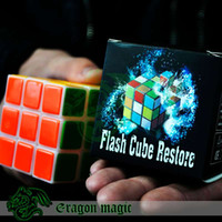 Wholesale Flash Cube Restore Eragon Close Up Penetration Magic Tricks magia magie toys retail and