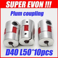 Wholesale for Aluminium Coupling to mm jaw Flexible shaft couplers D40 L50 SK024