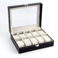 Wholesale Grids Leather Jewelry Watch Display Box Storage Holder Organizer Case Holder necklace display board