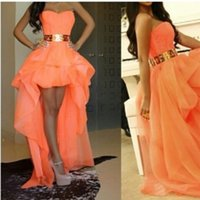 Cheap High Low Prom Dress Best Front Short And Long Back