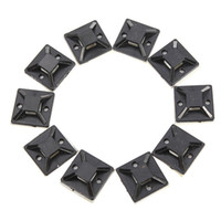 adhesive wall clips - 10PCS X20mm Self Adhesive Cable Wire Zip Tie Mounts Mounting Base Clamps Clip