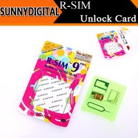 Wholesale Universal R SIM RSIM9 Pro SIM Card Unlock Prop Support ios or less For iphone s c s GSM WCDMA with retail box