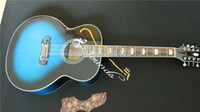 12 string acoustic guitar - new strings electric acoustic jumbo guitar blue color finishing acoustic guitars made in china guitar