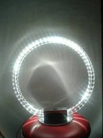 Wholesale New design Modern round dimmable LED table lamp diameter cm glass pipe bending for study or bedroom