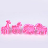 Wholesale 1 Set Animal Shape Biscuit Mould Bakeware Fondant Cake Mold DIY Sugarcraft D Pastry Cookie Cutters X60 JJ0247W S1