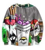 aqua teen hunger force - Aqua Teen Hunger Force D Print Fashion Sweatshirt Crew neck