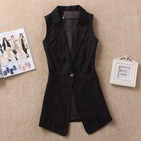 Wholesale Suit Vest Size M XL New Spring Medium long Slim Korean Fashion Vest jacket Plus size