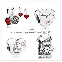 glass jewelry box - 925 Sterling Silver Charms and Murano Glass Bead Set with Charm Box Fits European Pandora Jewelry Charm Bracelets Daughter Love Sets