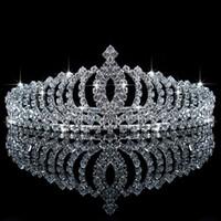 Wholesale 2016 Luxury Sparkling Rhinestone Tiara Wedding Flower Girl Crowns Children Girls Head Pieces In Stock Ready To Ship