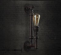 Wholesale NEW RARE large pipe Vintage style Industrial Edison metal ceiling wall Lamp old fashion with T64 light bulb