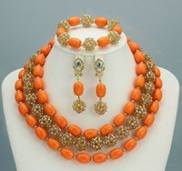 amazing costume jewelry - Amazing Sharp Red African Costume Jewelry Set Indian Bridal Jewelry Set Nigerian Wedding Beads