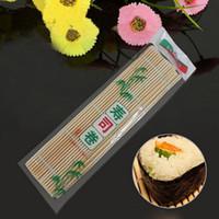 Wholesale Portable Healthy Japan Korea Home DIY Kitchen Sushi Roll Maker Sushi Mat Roller Bamboo Material Mat Maker Rice Paddle
