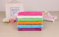 Wholesale high efficient ANTI GREASY color dish cloth bamboo fiber washing dish towel magic Kitchen cleaning cloth wipping rags TY12