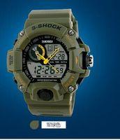 abs watch battery - 2015 new SKMEI S SHOCK m Waterproof Military Wrist Watch ABS Resin S S CAMO jelly Quartz Analog Digital
