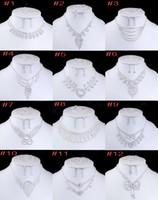Wholesale Luxury Bridal Jewelry Set For Women Ladies Romantic Wedding Acrylic Necklace Earrings Ring Bracelet Accessories
