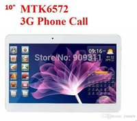Cheap SGpost NEW! 10 inch MTK6572 Dual Core 3G Phone Call tablet pc GPS bluetooth Wifi Dual Camera with SIM Card Slot 1 G + 8 GB 1024x600