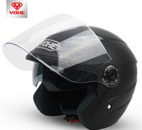 achat en gros de yohe l taille casque-YOHE double objectif hiver demi-face casque moto Casque vélo électrique électrique casque moto YH837A TAILLE M L XL XXL 7 couleurs