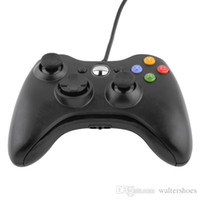 Wholesale New Black USB Wired Gamepad Controller For MICROSOFT Xbox Slim PC Windows