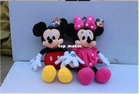 american dog toy - 2015 Hot sale CM new ONE American Lovely Mickey Mouse Or Minnie Mouse Stuffed animals plush Toy xs019